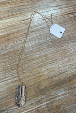 Jewelry Long Gold Snake Bar Necklace