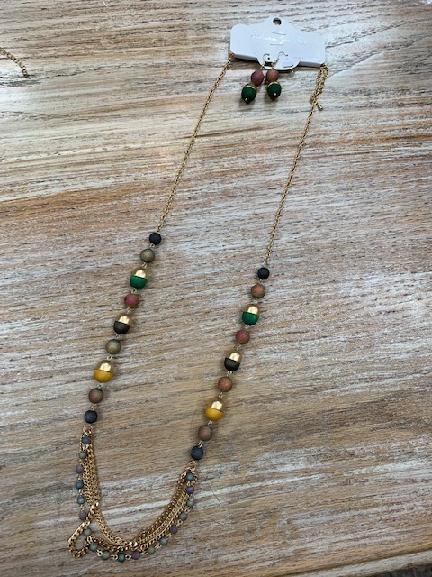 Jewelry Gold Chain Beaded Necklace