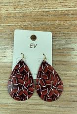 Jewelry Metal Football Earrings