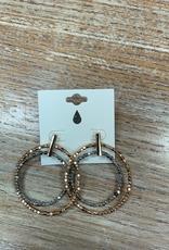 Jewelry Gold Silver Bead Hoop Earrings
