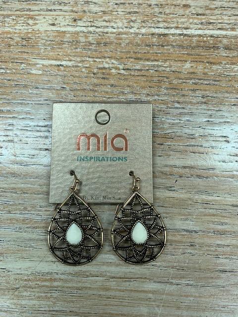 Jewelry Gold Oval Web Gem Earrings