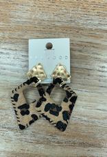 Jewelry Leopard Hide Gold Earrings