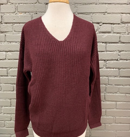 Sweater Plum Twist Back Sweater