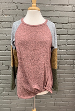Long Sleeve Color Block LS w/ Twist