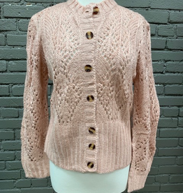 Sweater Pink Button Down Sweater