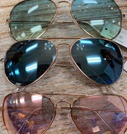 Sunglasses Sunglasses w/ Case Color Lens Aviator