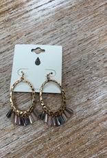 Jewelry Gold Oval Dangles Earrings
