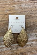 Jewelry Gold Flower Teardrop Earrings
