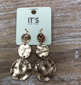 Jewelry Gold Coin Earrings