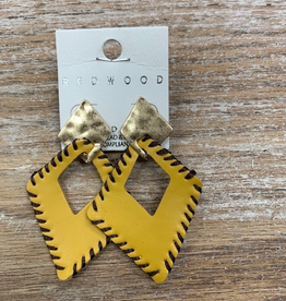 Jewelry Mustard Diamond Shape Earrings