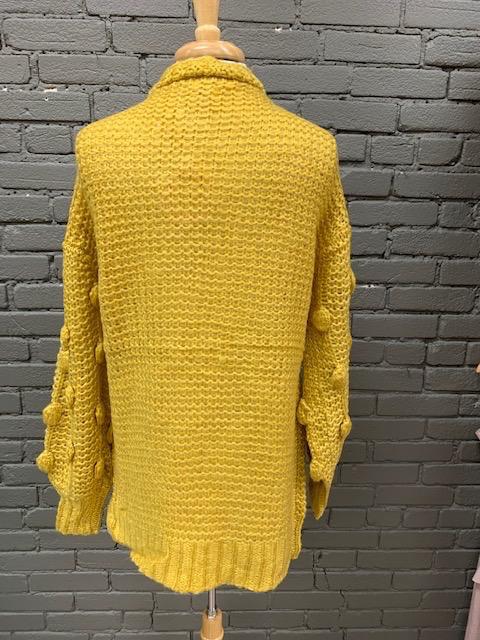 Cardigan Golden Puff Knit Cardi