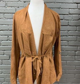 Jacket Walnut Roll Up Suede Jacket