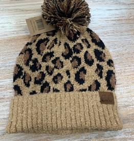 Beanie Leopard Knit Beanie
