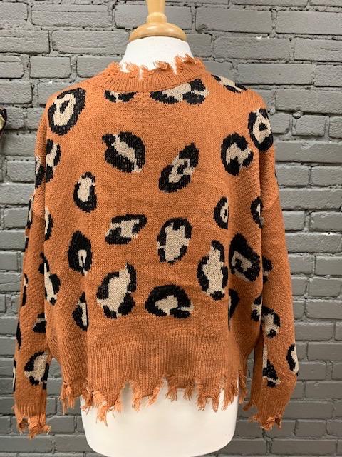Sweater Camel Leopard Sweater