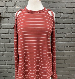 Long Sleeve Brick Thermal Criss Cross Straps