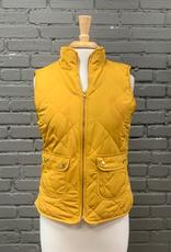 Vest Reversible Mustard Puffer Vest