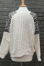 Sweater Ivory Crochet Knit Sweater