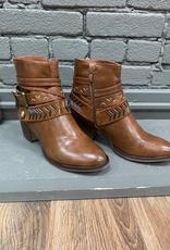 Boot Whiskey Multi Strap Zip Booties