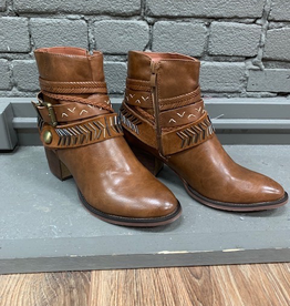 Boot Whiskey Multi Strap Zip Booties