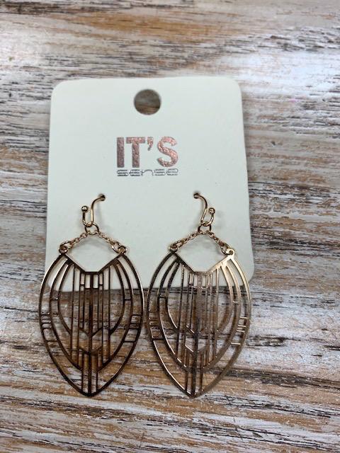 Jewelry Gold Funky Design Earrings