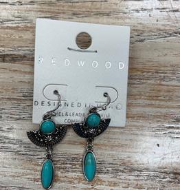 Jewelry Silver Turq Design Earrings