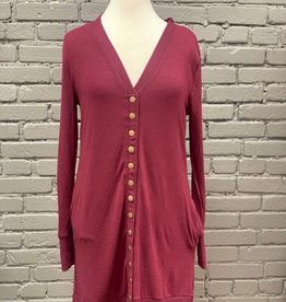 Cardigan Burgundy Long Cardigan