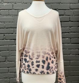 Long Sleeve LS Khaki Top w/ CrissCross Back