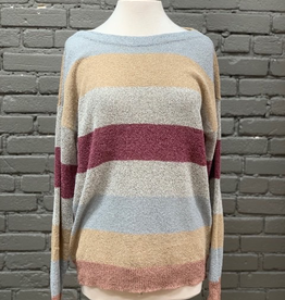 Sweater Multi Color Striped Sweater