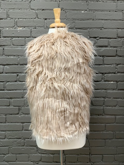 Vest Beige Faux Fur Vest