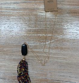 Jewelry Black Stone w/ Multi Beads Necklace