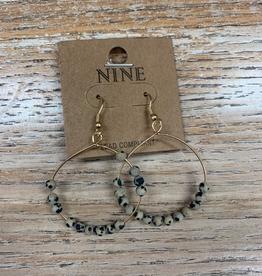 Jewelry Gold Hoops w/ Snakeskin Beads