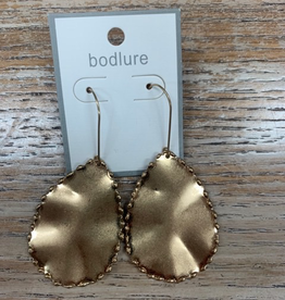 Jewelry Gold Hammered Earrings