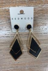 Jewelry Gold/Black Earrings