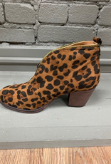 Boot Leopard Top Zip Booties