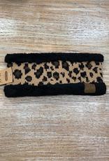 HeadBand Leopard Fleece Headwrap