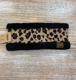 HeadBand Leopard Fleece Headwrap