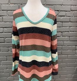Long Sleeve Multi Stripe LS Top