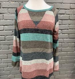 Long Sleeve Multi Color Stripe LS Top