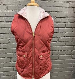 Vest Reversible Brick Zip Vest