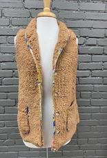 Vest Camel Button Sherpa Vest