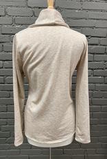 Jacket Oatmeal Button Collar Jacket
