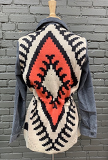 Jacket Cord Button Jacket Tribal Back