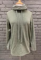 Long Sleeve Olive Stripe LS Turtleneck