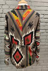 Cardigan Brown Aztec Cardigan