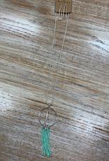 Jewelry Silver Design Tassel Necklace