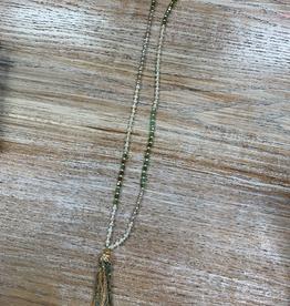 Jewelry Multi Beaded Tassel Necklace