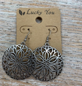 Jewelry Silver Floweret Earrings