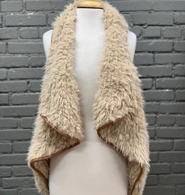 Vest Taupe Faux Fur Vest