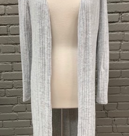 Cardigan Light Grey LS Open Cardigan