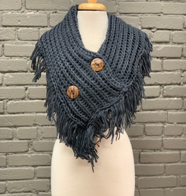 Scarf Crochet Knit Button Scarf